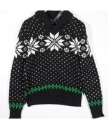 Polo Ralph Lauren Mens Snowflake Fair Isle Sweater Size Large Black - $140.00