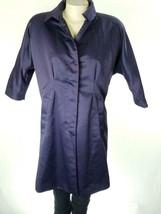 Simply Vera Vera Wang Women's Purple Trench Coat Sz S EUC - $30.39
