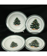 Totally Today Xmas Tree Rim Soup Bowls and Bread Plates Lot of 6 - $39.19