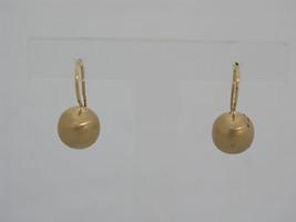 Gold 19kt earring brushed ball shape - $271.31