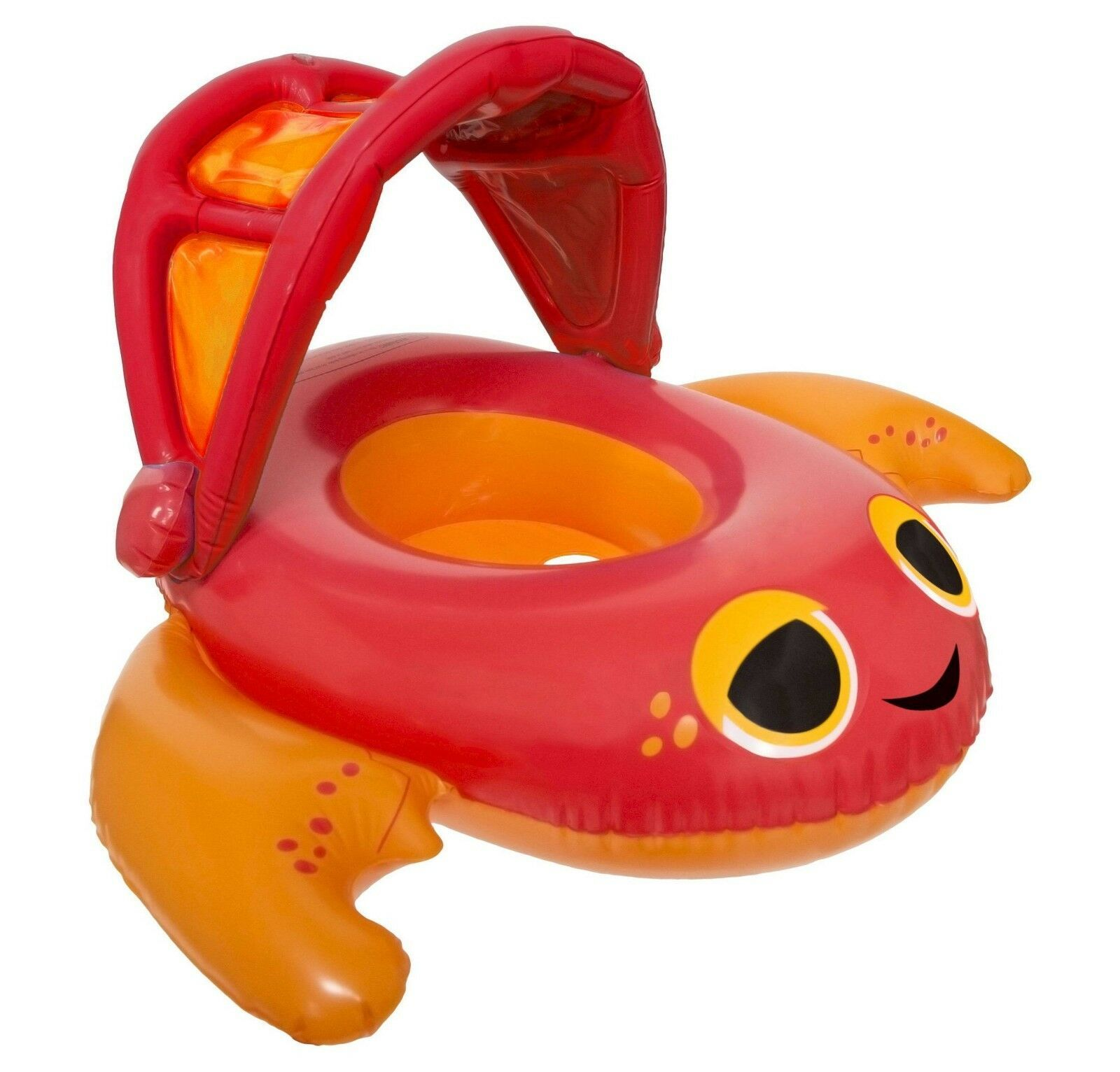 "Swim Ways 34"" Inflatable Sun Canopy Baby Boat Crab Float 9-24 months Step 1 NIB"