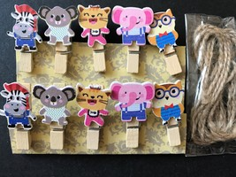 120pcs Wooden Clothespin,Cute Wooden Paper Clips,Kid's Birthday Party Gi... - $18.00
