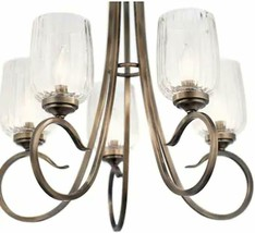 Kichler Chesterlyn 5 Light Vintage Tuscan Traditional Ribbed Shaded Chan... - $117.81
