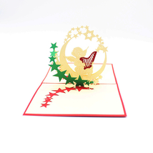 Music Angel--3D Birthday Card, 3D Greeting Card, Pop Up Card, Pop Out Card - $4.76