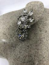Vintage Long 1960s Clear Austrian Crystal Rhinestone Chandelier Clip On ... - $51.46