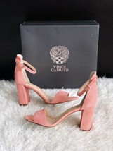 New VINCE CAMUTO Corlina Suede Ankle Strap Sandals Pink Womens Size 7.5M... - $51.43