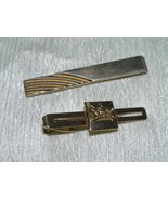 Vintage Lot of 2 Pioneer & Swank Signed Goldtone with Etched Crown & Swi... - $7.69