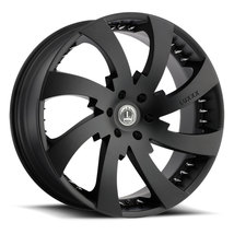 22x8.5 Luxxx Alloys LUX12 Satin Black w/ Spike Rivets Wheel (SET OF 4) - $852.00