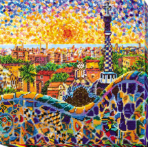 "Bead Embroidery DIY Kit ""Park Guell"" 12.2""х12.2"" - $85.95"