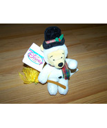 "Disney Store Winnie the Pooh Snowman Bean Bag Plush Holiday Bear 8"" Animal - $18.00"