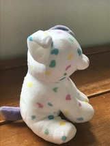 Gently Used Ty Sprinkles White with Pastel Confetti Plush Puppy Dog Stuffed Anim image 2