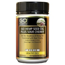 GO Healthy Hemp Seed Oil Plus Sour Cherry 100 SoftGel Capsules