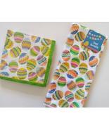 EASTER EGGS TOWEL NAPKIN SET 2pc Microfiber Kitchen Towel Paper Napkins ... - $9.99
