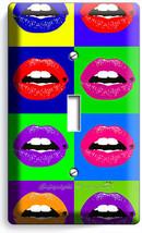 Vivd Lips Pop Art Single Light Switch Cover College Teen Dorm Room Office Decor - $8.09
