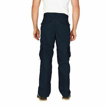 Men's Classic Multi-Pocket Casual Military Navy Cargo Pants Trousers - 38x32 image 2
