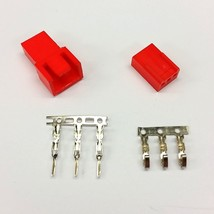Male & Female 3 Pin Pc Fan Led Power Connectors - 1 Of EACH- Red Inc Pins - $2.45