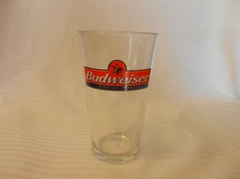 "Budweiser King Of Beers Beer Pint Glass Clear 5.75"" Tall with logo - $22.28"