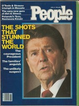 People Weekly Magazine April 13 1981 Ronald Reagan Shot - $29.69