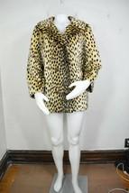 vintage faux fur cheetah jacket M/L Fairmoor 50's 60's animal print mint - $150.00