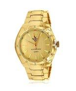 Gold Matte Accented Bezel Executive Mens Watch - $47.99