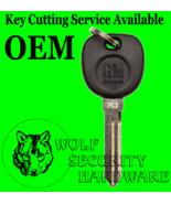 Buick Cadillac Chevy RFID Transponder PASSKEY Chip Key Blank PK3 GM Logo - $28.46
