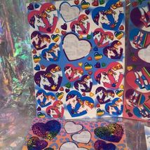 Incomplete Vintage Lisa Frank Sticker Sheets Hearts & Unicorns Ballet Cheetah ! image 4