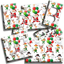 SANTA CLAUS REINDEER BALLOONS CHRISTMAS LIGHT SWITCH OUTLET WALL PLATE A... - $10.22+