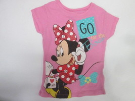 """Disney Minnie Mouse """"go for the Bow"""" short sleeve print t-shirt SIZE 4 - $4.90"""