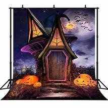 DePhoto 10X10FT300X300CM Halloween Theme Witch Hut Pumpkin Lantern Custo... - $1.108,22 MXN