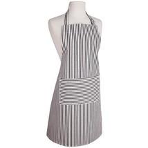Now Designs Blk Stripe Apron NWT Denim White Blue Striped - $26.72