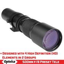 Opteka 500m to 1000mm Telephoto Lens for Sony Alpha a300 a99 a77 a65 a58 a57 a37 - $94.95