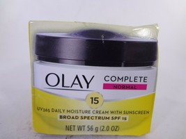 Olay Complete Normal SPF 15 UV 365 Daily Moisture Cream w Sunscreen 2oz ... - $10.89
