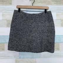 J Crew Boucle Tweed Pencil Skirt Gray Lined Wool Blend Above Knee Womens 12 - $39.59