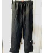 Vintage Nike Wind Pants Men's M Medium Black/White Mesh Liner  - $19.59