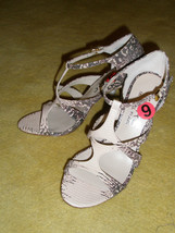 New KORS by Michael Kors T-strap Leather Snake Python Sandals Shoes Sz 6... - $63.57