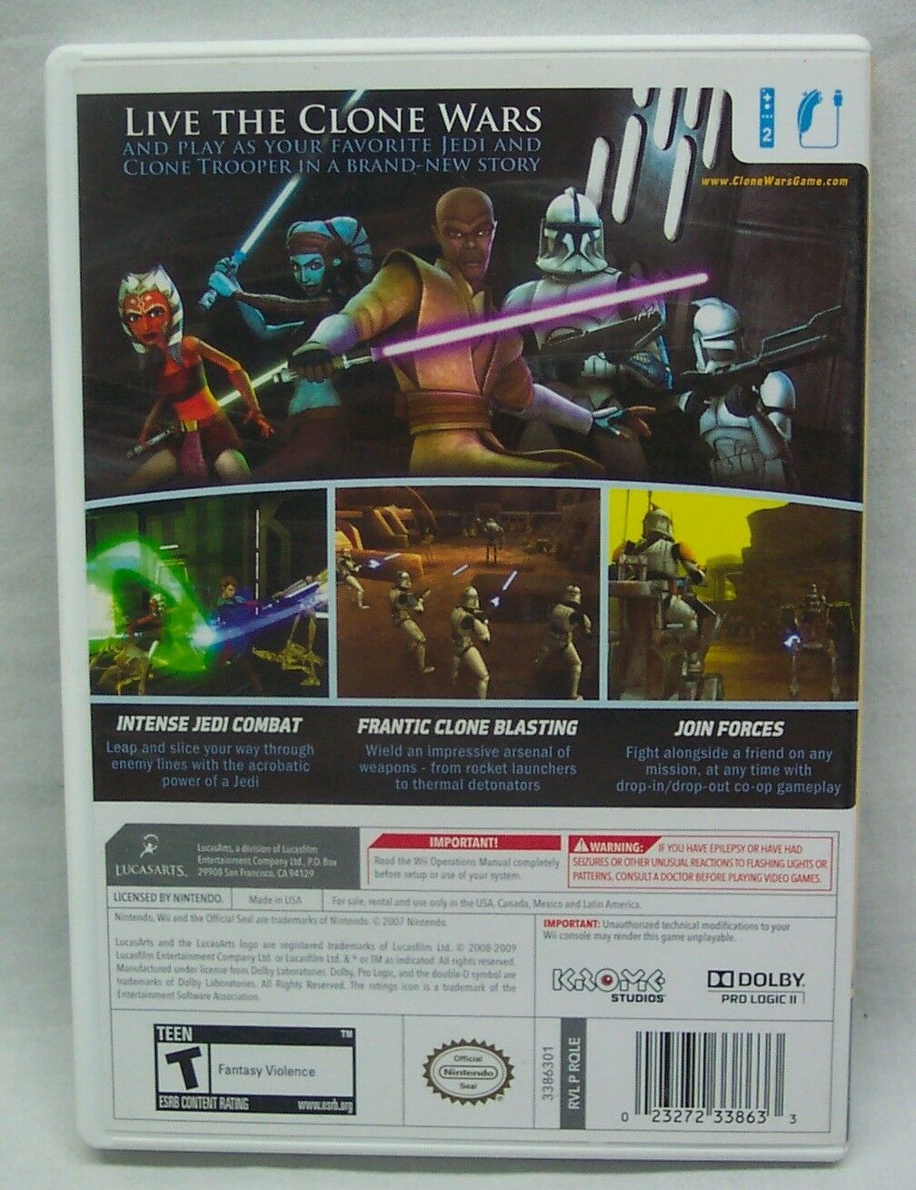 STAR WARS The Clone Wars - Republic Heroes NINTENDO WII Video Game Complete