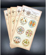 Set Of 5 Vintage Pennsylvania Dutch Hex Sign  Bridge Score Pads Stocking... - $9.90