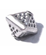 1 Sterling Silver Bali Speckled Octahedron Bead 8mm #ZP003 - $3.90