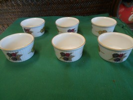 "Beautiful ROYAL WORCESTER ""Evesham"" Porcelain Set of 6 CUSTARD CUPS - $24.34"