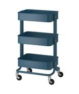 IKEA RASKOG Utility Kitchen Cart Storage All Purpose Organizer Blue - $54.44