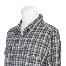 Columbia Omni-Wick Vented Nylon Gray Red Plaid Fishing Hiking Shirt Mens XL - $23.58