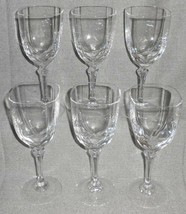 Set (6) Cristal D'arques Chambery Pattern Crystal Wine Stems w/ORIGINAL Box - $49.49