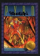 1993 SkyBox Marvel X-Men Series II Art Card SIGNED Dan Panosian / Pyro - $12.86