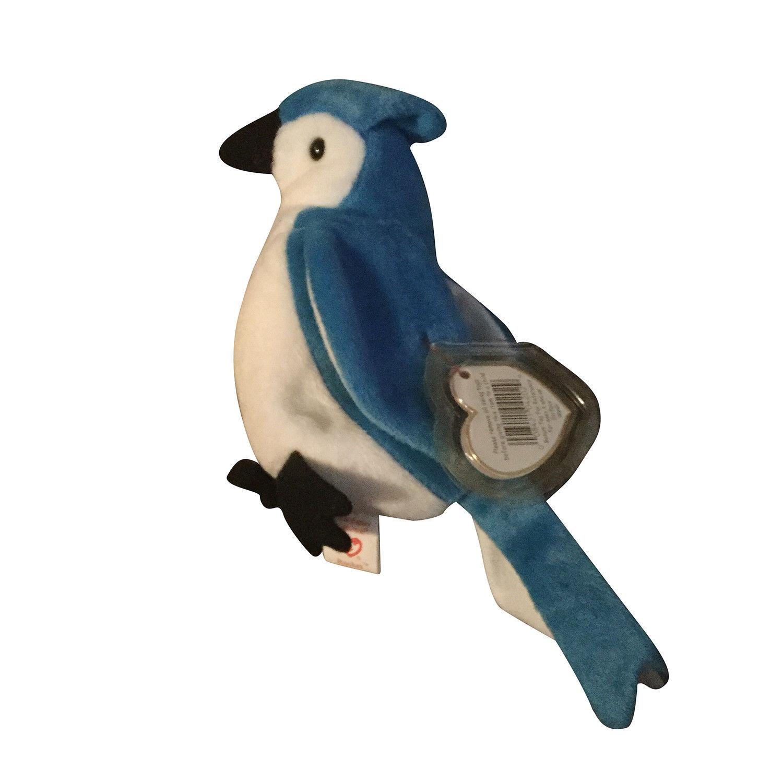 f64ecfb39e1 Retired Ty Beanie Babies Rocket the Blue Jay Bird Stuffed Animal NWMT- w  errors