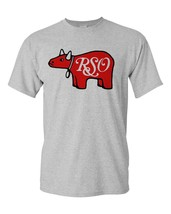 RSO Records T-shirt retro 1970's disco Grease cotton blend graphic grey tee image 2