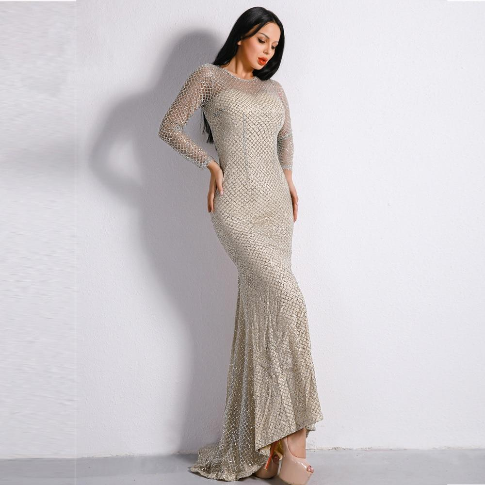 Le hollow out empire o neck plaid sequined vintage evening party sexy women long dress celebrity