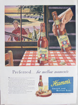 Original Vintage Hamm's Beer Ad 1947 - $7.91