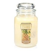 ☆☆WILLIAMSBURG PINEAPPLE☆☆LARGE YANKEE CANDLE JAR~FREE FAST SHIPPING☆GRE... - $25.73