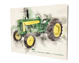 John Deere 43U Farm Tractor Art Design 16x20 Aluminum Wall Art - $59.35