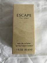Calvin Klein Escape For Men 1 Oz Edt Spray Brand New In Box - $9.89